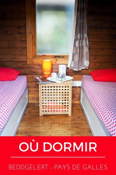 Où dormir près de Beddgelert lors d'un voyage au Pays de Galles. Tout près du parc national de Snowdonia, les camping pods sont une belle option pour les voyage à petit budget.