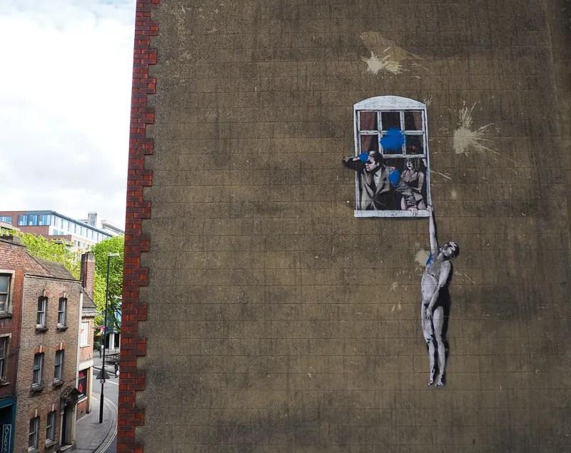 Oeuvre de Bansky à Bristol.