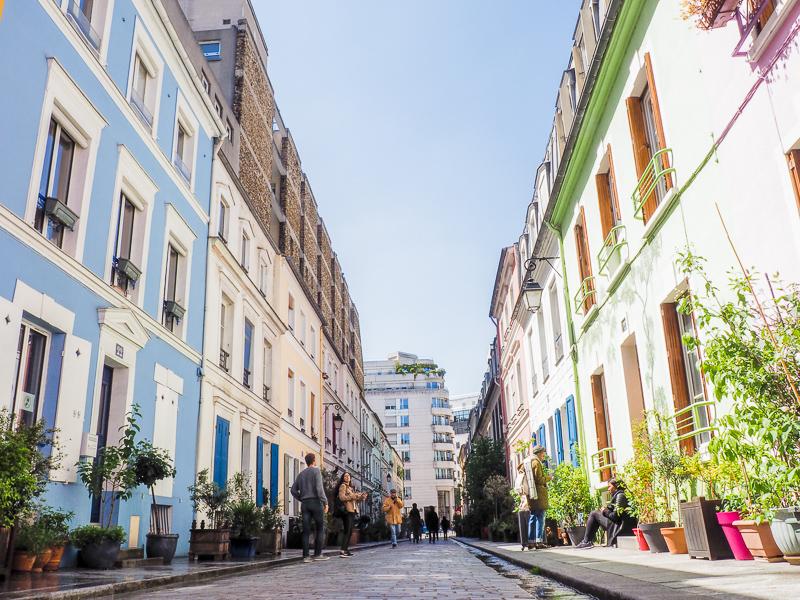 La Rue Crémieux à Paris est l'une des plus colorées!