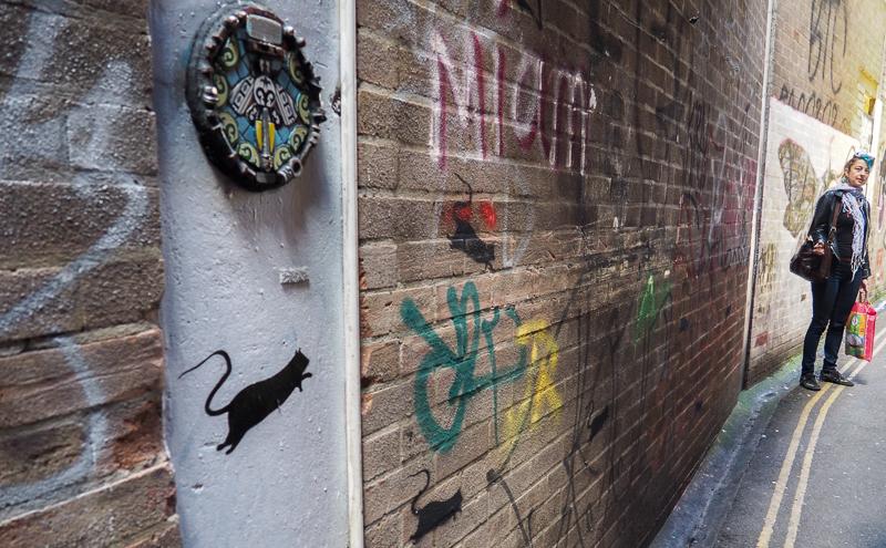 Street Art dans Leonard Lane à Bristol.