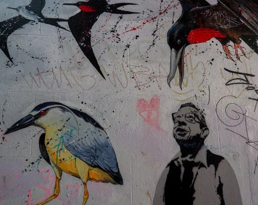 Leonard Lane à Bristol, couverte d'art de rue.