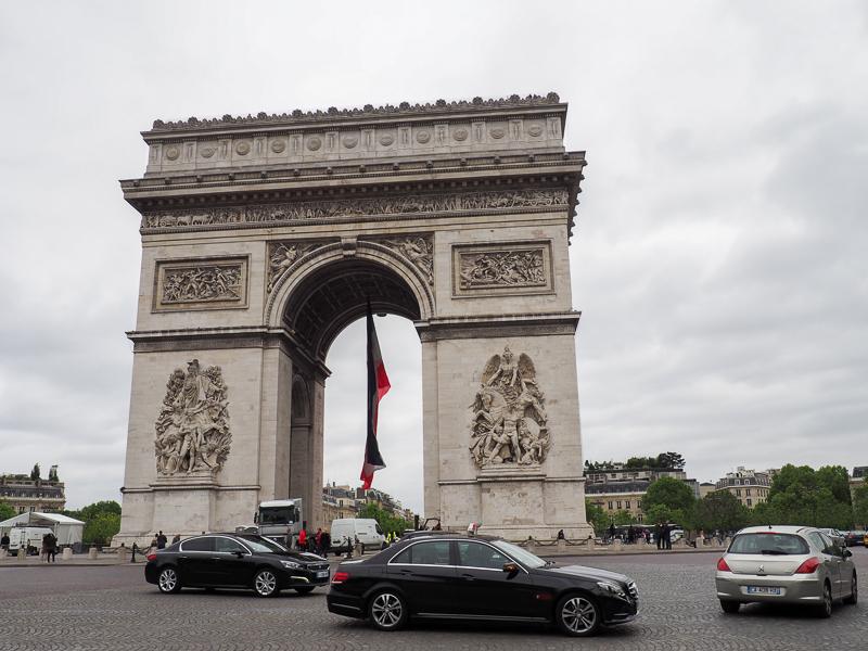 Arc de Triomphe à Paris.