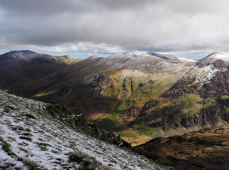 Photo prise au sommet du mont Snowdon au Pays de Galles.
