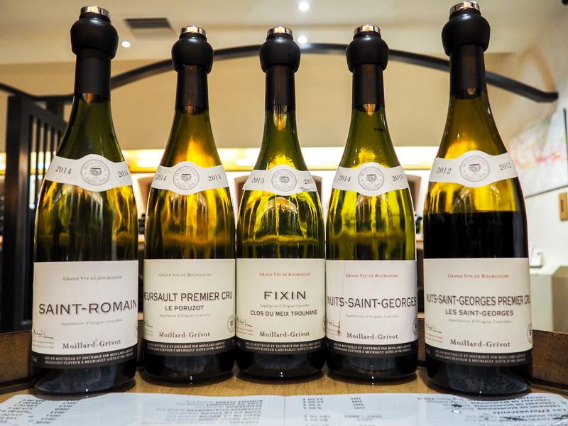 Vins dégustés avec Wine & Voyage en Bourgogne.