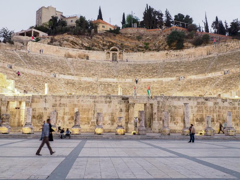 Théâtre romain dans la ville d'Amman.