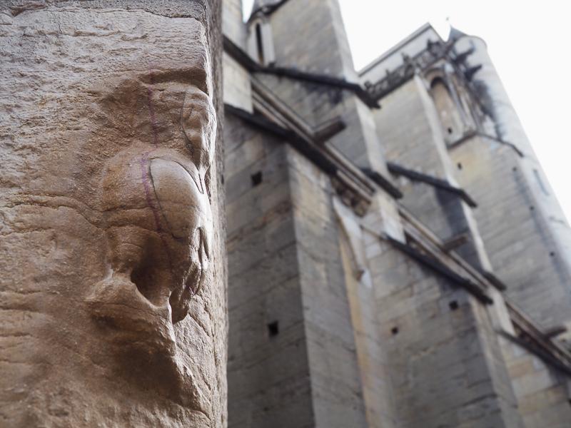 Chouette de l'église Notre-Dame de Dijon.