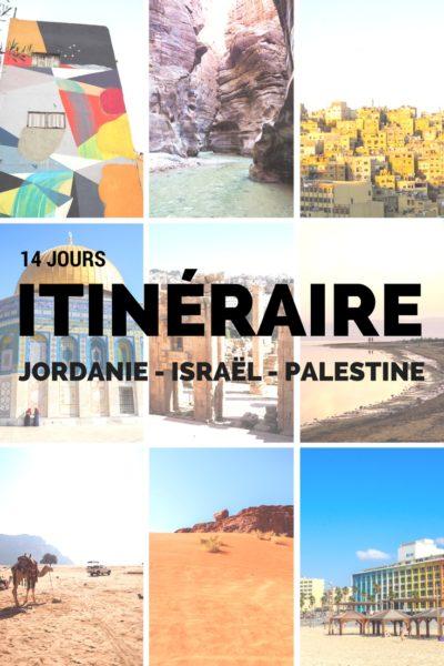 Itinéraire complet pour visiter la Jordanie, Israël et les territoires palestiniens en 14 jours. Avec cette itinéraire, j'ai pu comprendre les transports, quoi visiter et découvrir plus de 40 photos des pays! #Jordanie #Palestine #Israel #voyage #voyagevoyage