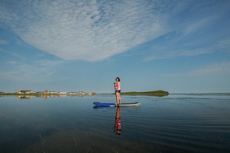 Paddle board chez Cindyhook aux Îles de la Madeleine