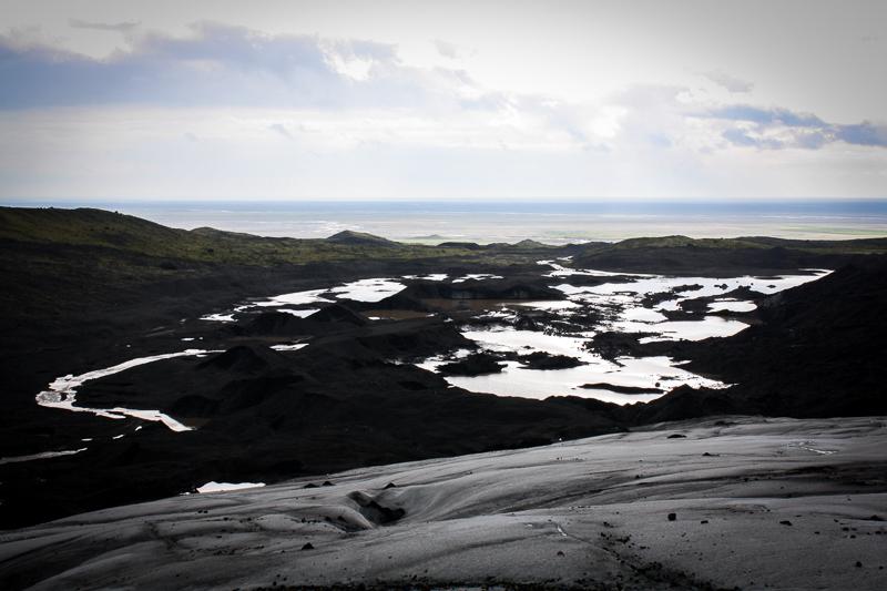 Vue du glacier près de Skaftafell en Islande.