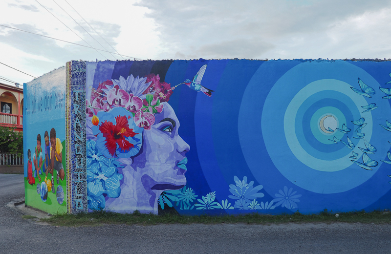 Street Art dans la ville de San Ignacio au Belize