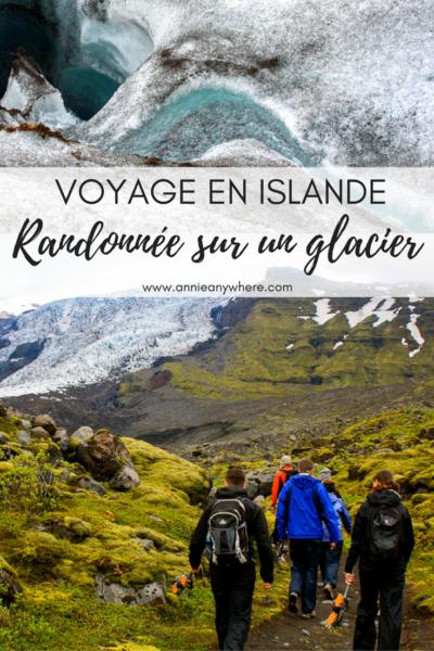 Voyage en Islande - Randonnée sur le glacier Vatnajökull, près du parc de Skaftafell, le plus gros glacier du pays. Une activité incontournable à faire dans le sud de l'Islande.