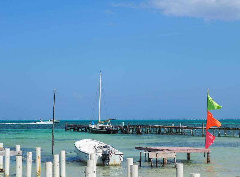 Vue sur la mer au Belize