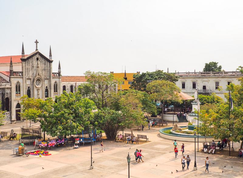 Parque centrale de la ville de Léon, au nord du Nicaragua
