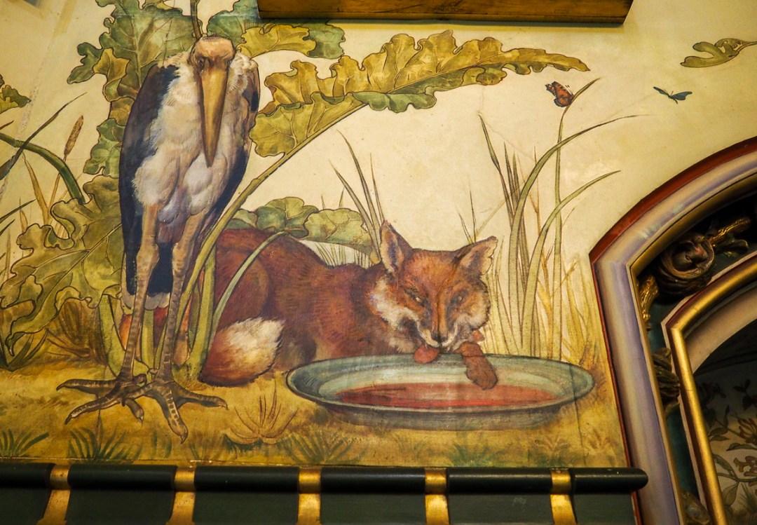 Dessins des Fables de La Fontaine au Château Rouge