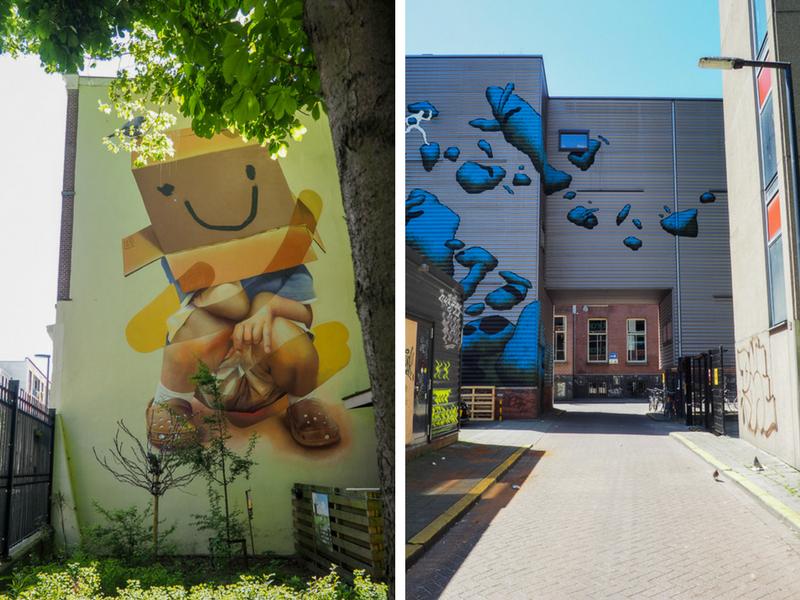 Murales géantes dans les rues de Rotterdam