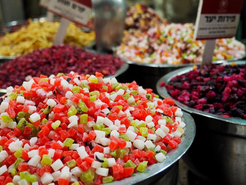 Boisson froide de fruits séchés à Jerusalem