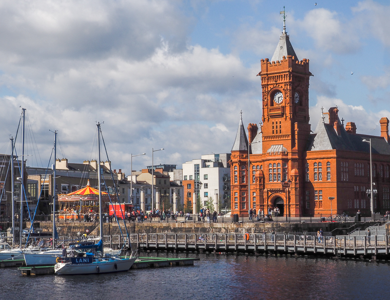 Vue de la baie à Cardiff