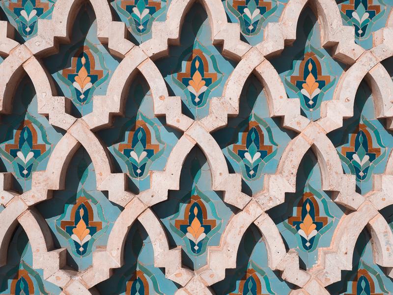 Mosaïque marocaine à la mosquée