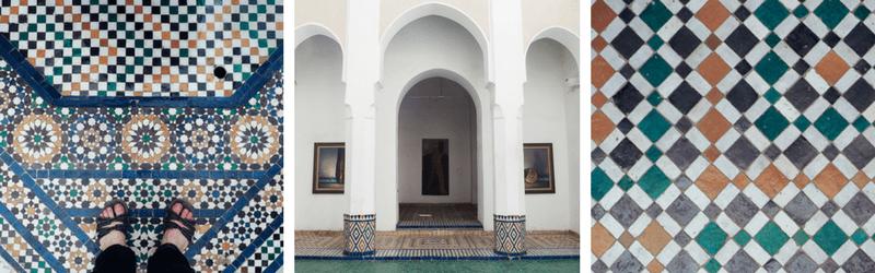 Mosaïque au Palais de la Bahia de Marrakech