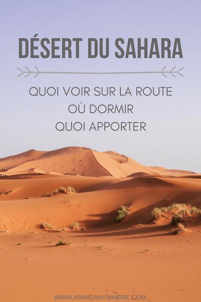 Visiter le désert du Sahara est un incontournable d'un voyage au Maroc. À découvrir dans cet article : comment s'y rendre entre Marrakech et Fèz, quoi voir sur la route, où dormir et quoi apporter pour dormir dans un camp berbère. J'ai réserver avec la compagnie Mouhou Tours, et voici mes impressions. #Maroc #Sahara