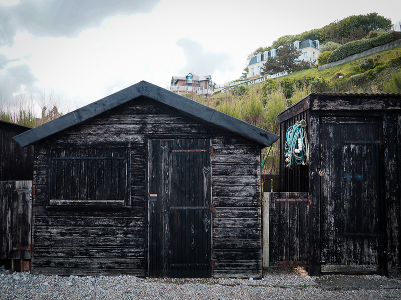 Maison de pêcheur près de la plage d'Étretat