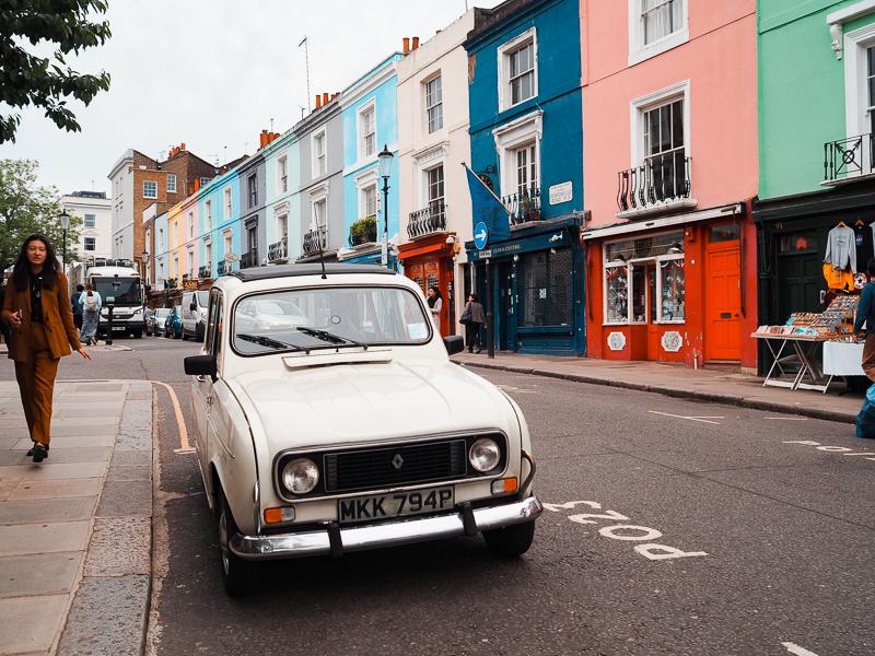 Maisons colorées de Portobello Road à Londres