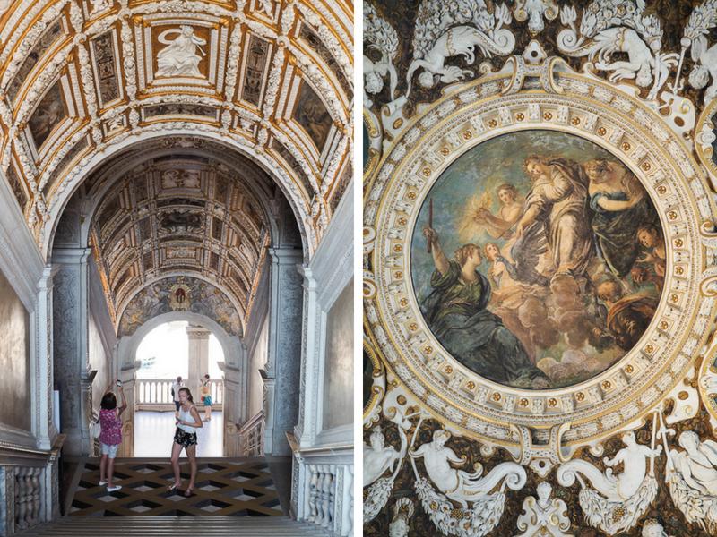 Escalier en or au Palais des Doges de Venise