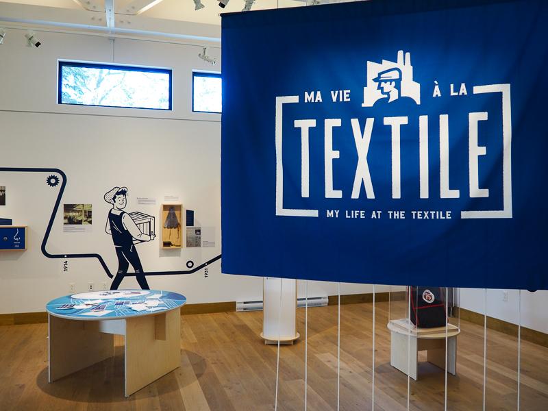 Exposition sur le Textile à la maison Merry de Magog
