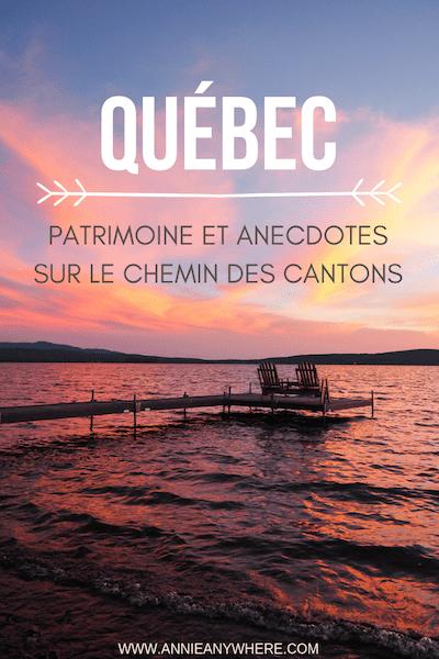 Connaissez-vous le patrimoine américain... du Québec? Suivez le Chemin des Cantons dans la région touristique des Cantons-de-l'Est pour un road trip à travers les histoires et les anecdotes des pionniers de la région. Bonnes tables et plein air sont aussi au rendez-vous | Voyage au Québec #quebecoriginal #cantonsdelest