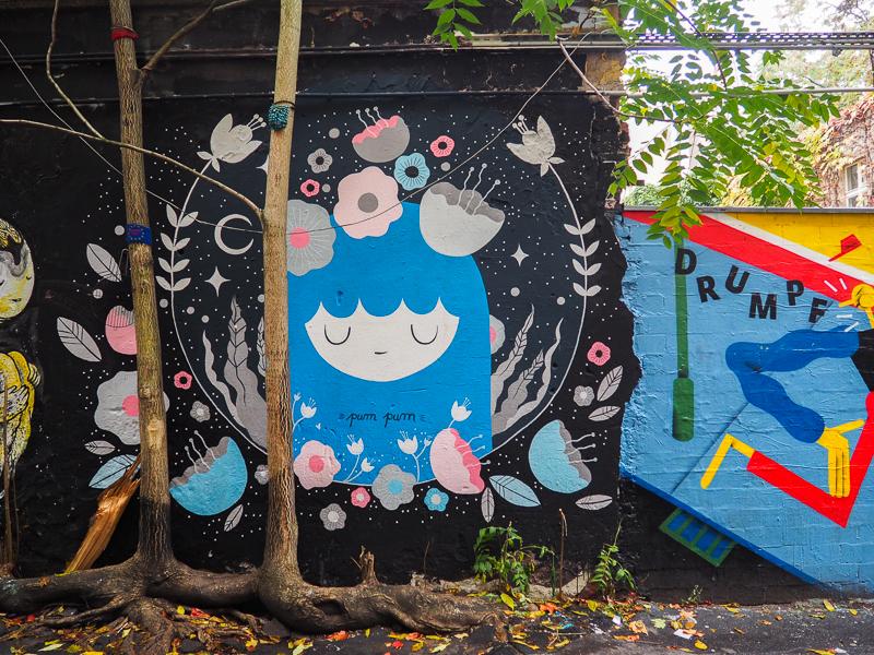 murale dans une ruelle de Berlin