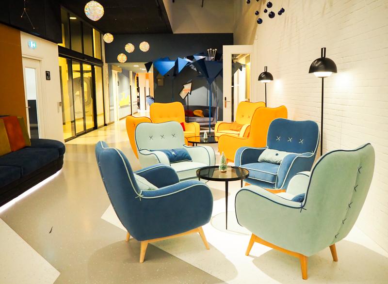 Lobby de l'hôtel Room Mate Bruno à Rotterdam