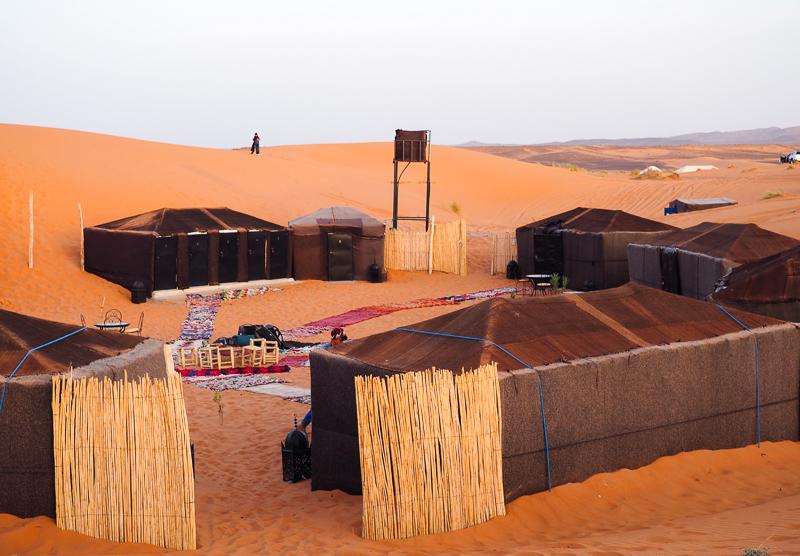 Camp berbère où j'ai dormi dans le désert du Sahara
