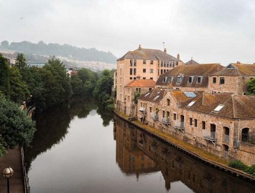 Ville de Bath en Angleterre
