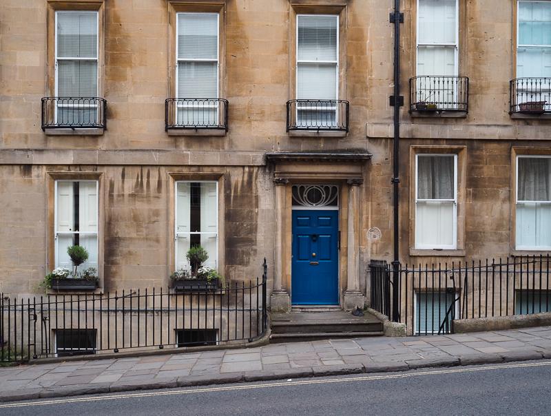 Rue typique de la ville de Bath