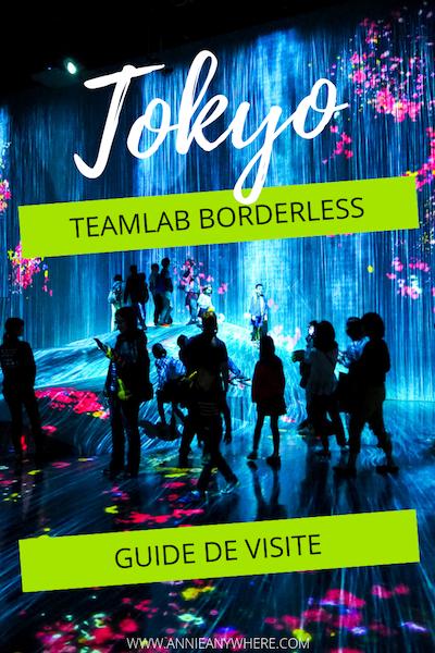 L'exposition teamLab Borderless est l'une des plus populaires de Tokyo! Ne manquez aucun des nombreuses salles et tirer le maximum de votre visite avec ce guide pratique à lire avant de visiter teamLab Borderless. Inclus: où acheter les billets, quoi porter et la liste des salles. #tokyo #teamLabBorderless