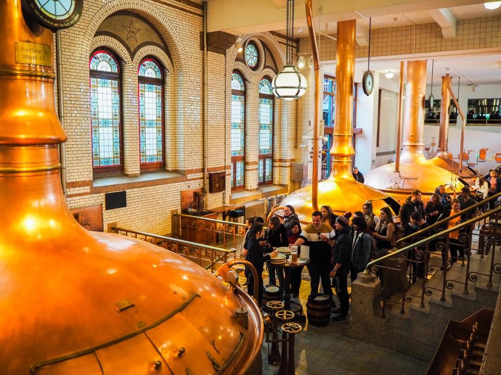 Visite de la Heineken Experience à Amsterdam - Salle de brassage et dégustation