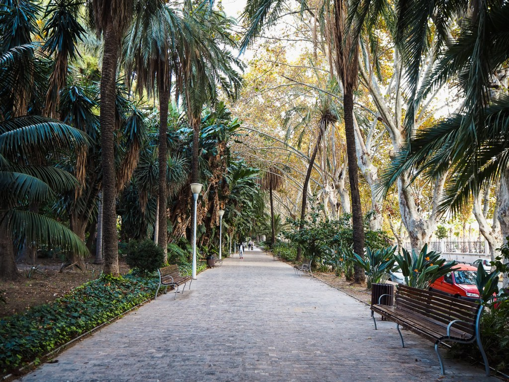 Que faire à Malaga : Visiter le parque de Malaga