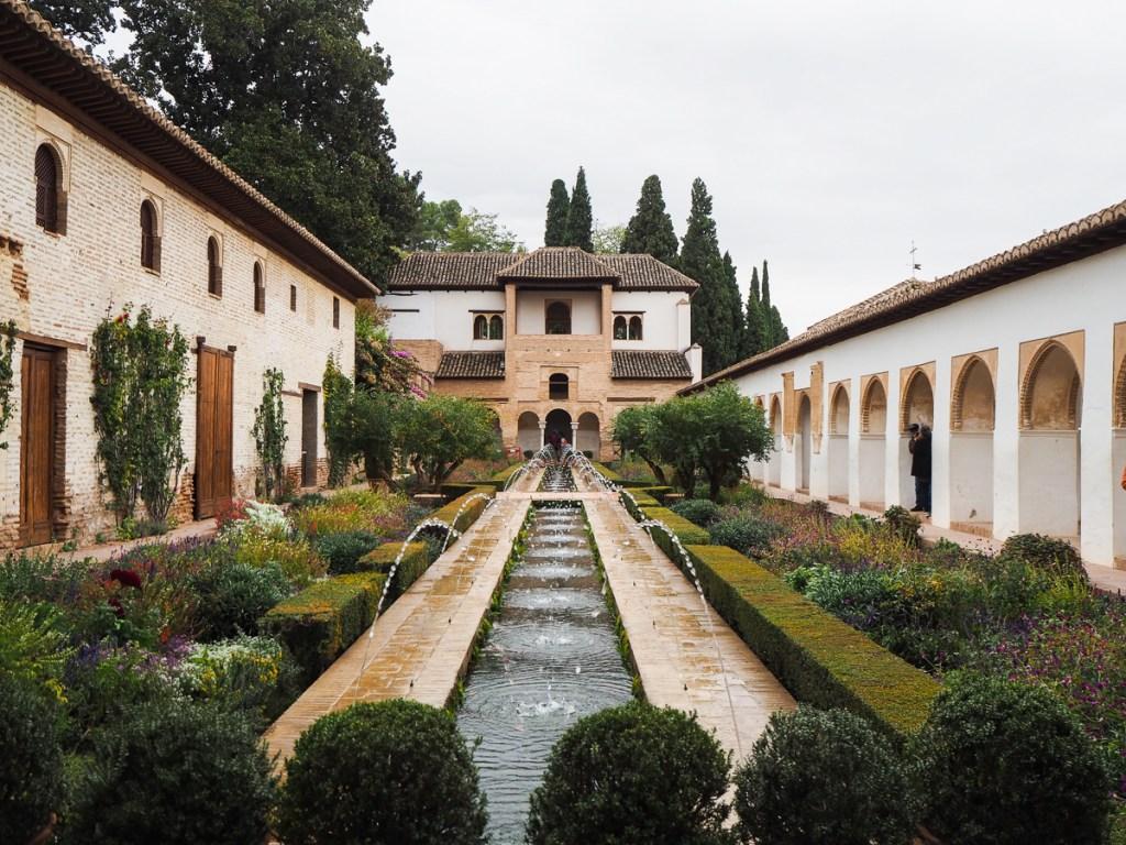 Generalife à l'Alhambra de Grenade