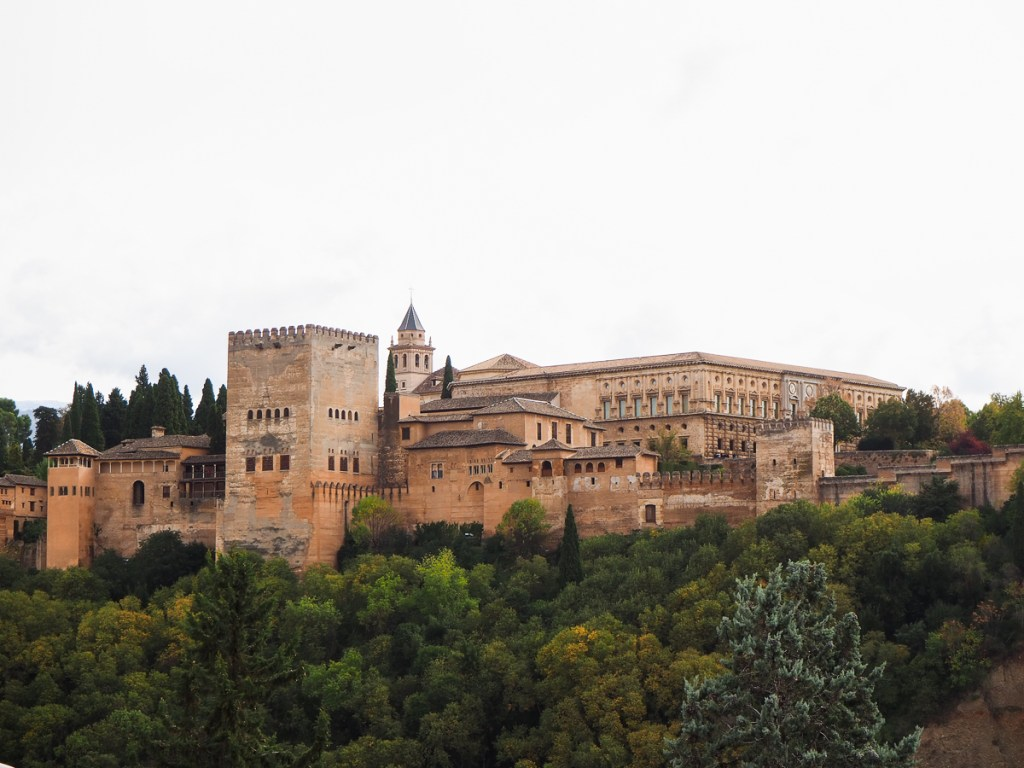 Alhambra de Grenade vu depuis le mirador San Nicolas