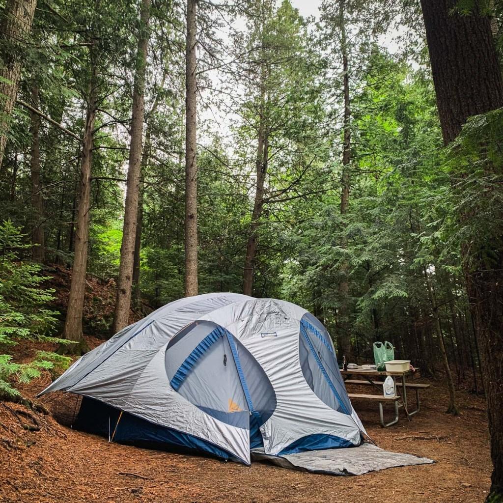 Notre campement au camping Saint-André-Avellin