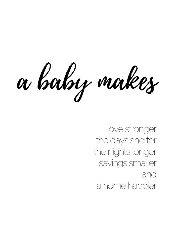 30+ CUTE Baby Quotes with Printable Images for Your