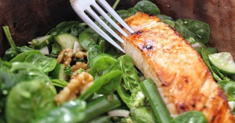 Maple Spice Salmon Salad Recipe