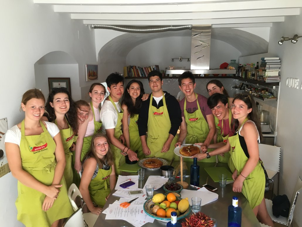 Group cooking class in Vejer
