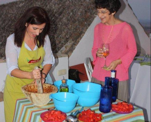 making gazpacho, vejer de la frontera