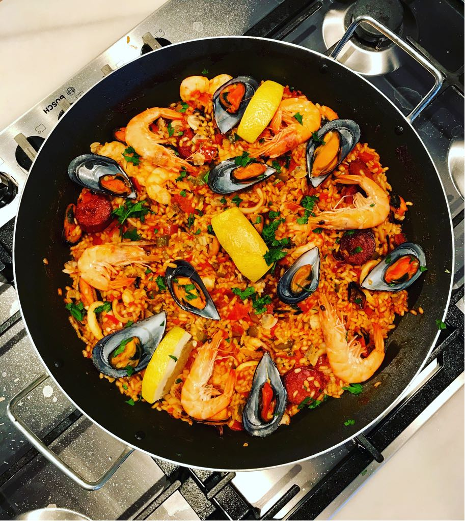 Paella at Annie B's Spanish Kitchen