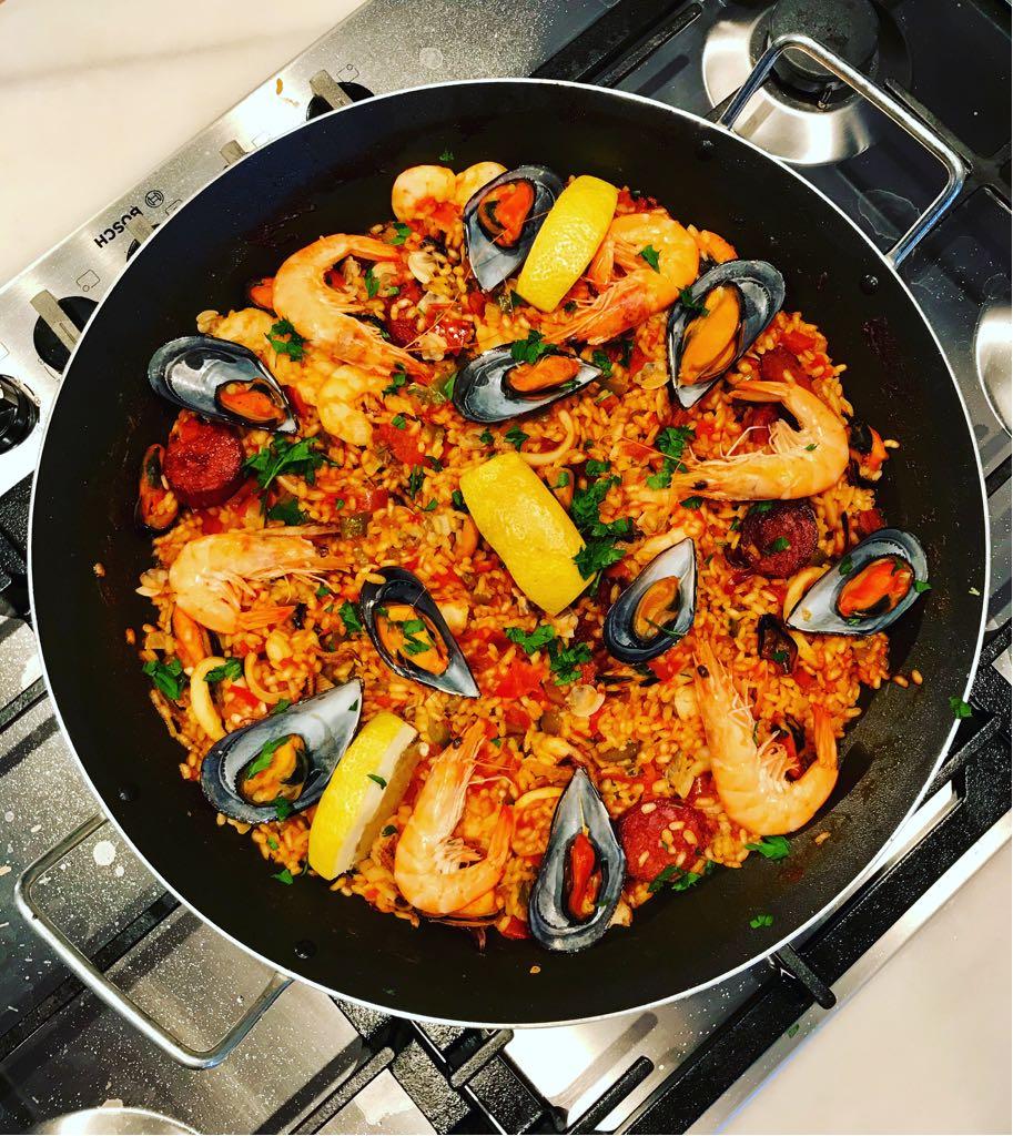 Paella at Annie B's Spanish Kitchen