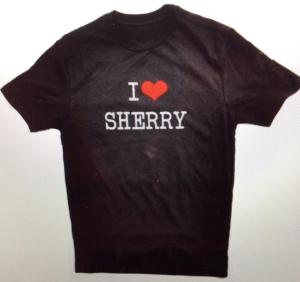 i love sherry t-shirt