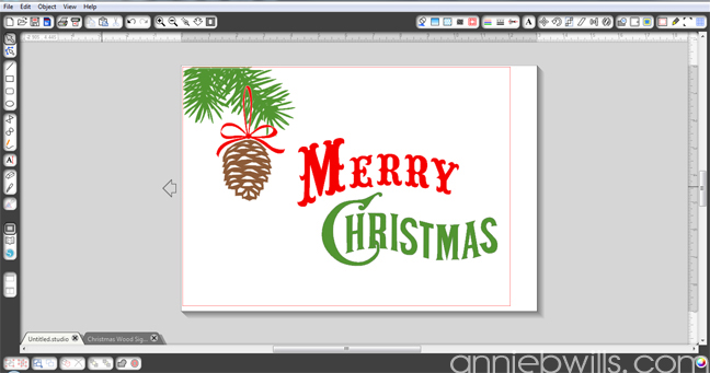 Rustic Merry Christmas Sign by Annie Williams - Screenshot 1