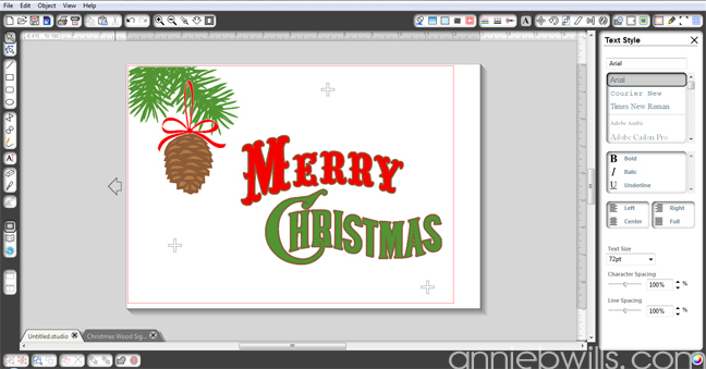 Rustic Merry Christmas Sign by Annie Williams - Screenshot 3