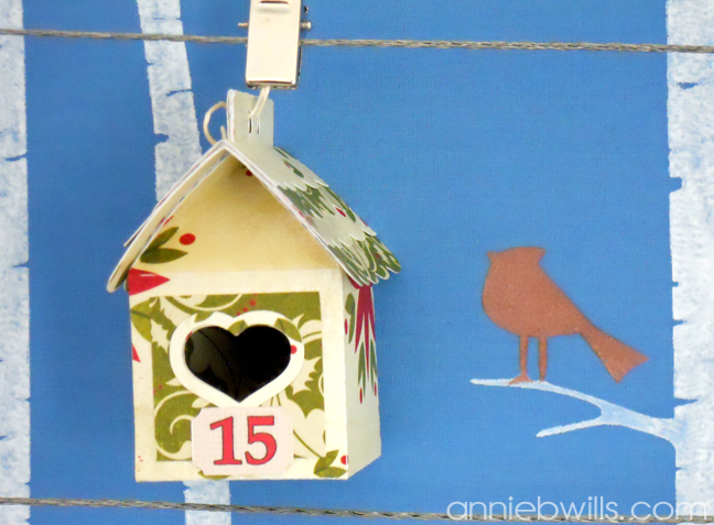 Birdhouse Advent Calendar by Annie Williams - Detail